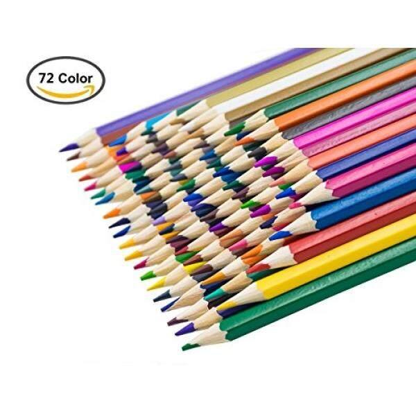 Moda A00003 Bleistifte-Zeichnung Kinder, Mehrfarbig, perfekt für die Bücher von Ausmalen Erwachsene – 72 Colors Farbstifte für Öl - intl