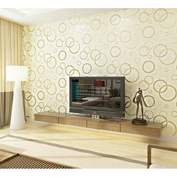 Modern minimalist 3D Non-woven Wallpaper Chinese Style New Fashion Pastoral Patterns Non-woven Wallpaper Wall Sticker for All Kind of Room 0.53M (1.73') X 10m (32.8') =5.3 Square Meters Chiristmas Decoration Paper light beige