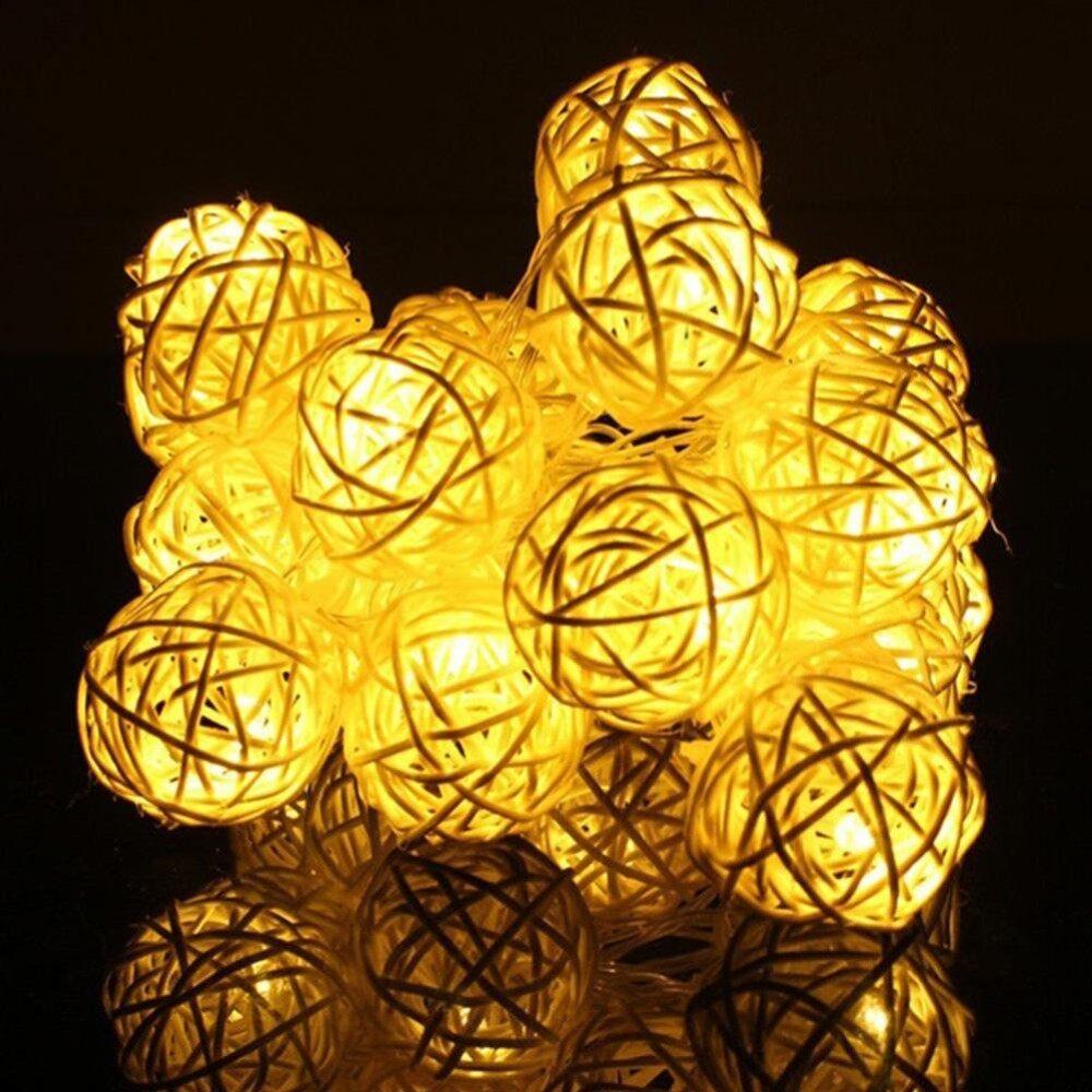 Moonar 2M 20 Leds Sepak Takraw Ball String Christmas Lights - intl