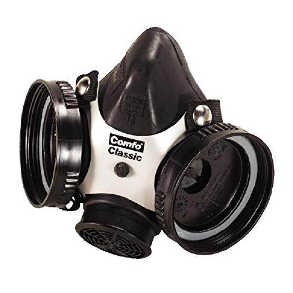 MSA Safety 808053 Comfo Klasik Half Mask Alat Pernapasan untuk Wajah, Sedang Hitam-Intl