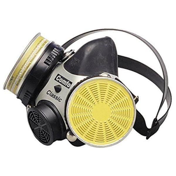 MSA Safety 808074 Comfo Klasik Lembut Merasa Hycar Karet Half Mask Alat Pernapasan untuk Wajah, Sedang Hitam-Intl