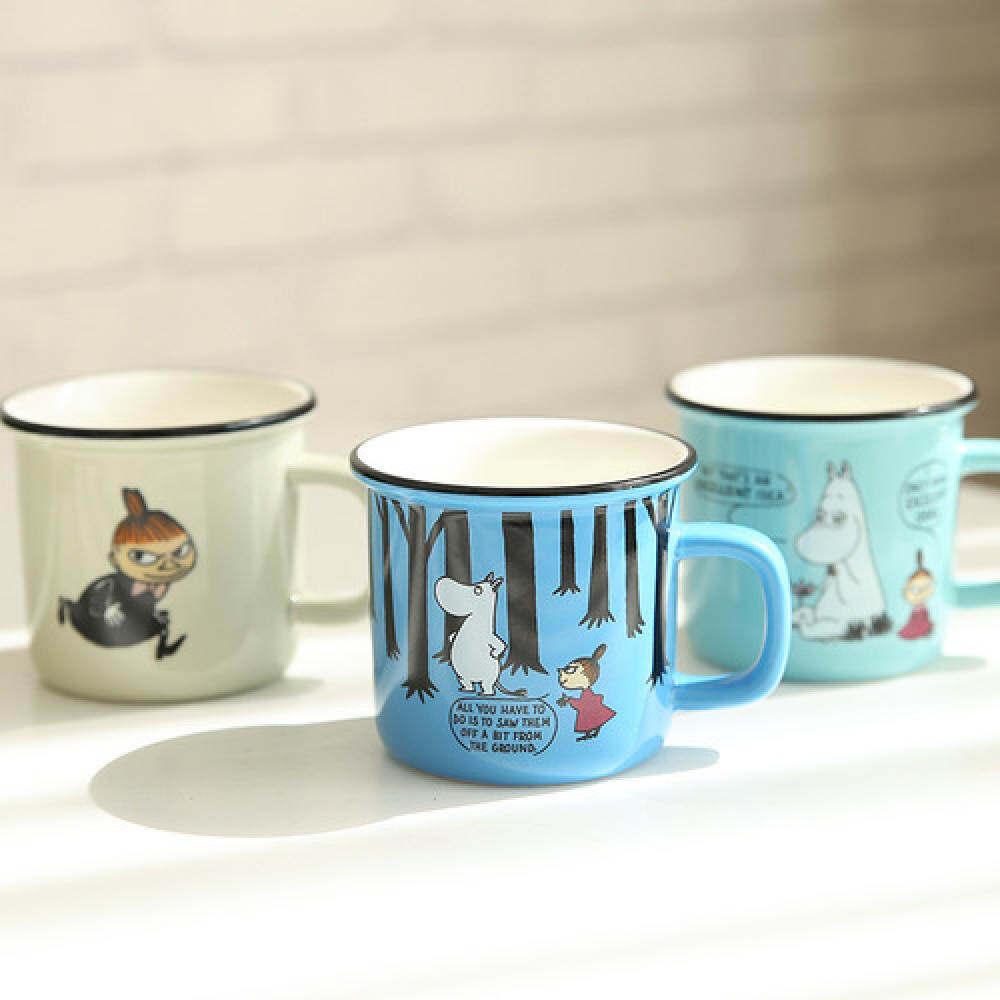 Mu Jelas Porselen dan Cangkir Keramik Mug Kreativitas Kartun Teh dan Mug Jian Yue 300ML-