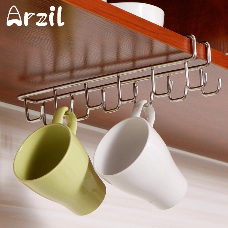 Mug Holder Coffee Tea Cup Rack Storage Kitchen Under Shelf Cabinet Hanger Hooks