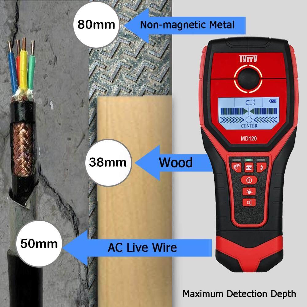 Multi-fungsional LCD Digital Detektor Dinding Logam Kancing Kayu Finder Kabel AC Live Wire Scanner