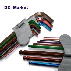 multicolor ball end hex key set , Metric Long Ball Ended Hex Allen Key wrench set , 1.5mm-10mm chrome molybdenum steel tools
