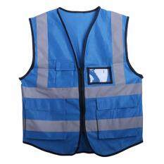 Multicolor Hi-Vis Safety Vest Reflective Jacket Security Waistcoat 5 Pockets