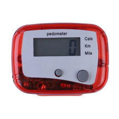 Multifunction Walking Distance Calorie Passometer Red By Sportschannel.