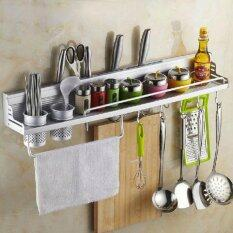Redcolourful Multifunctional 60cm Space Aluminum Kitchen Wall Mounted Storage Rack (have Fence) (Intl)