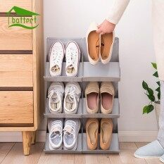 2 pcs Multifunctional Home Plastic Stackable Shoes Rack Stand Storage Organizer For Shoes DIY Shoe Cabinet for Home Decor
