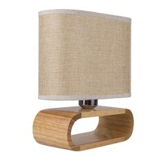 MumoLight Lighting Classic Deisgn Table Lamp Mix Brown and Beige Shape With Wooden Pedestal - intl