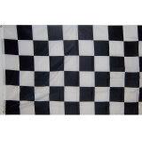 New Checkered Flag 90cm x 150cm Large Black White Nascar Racing Banner