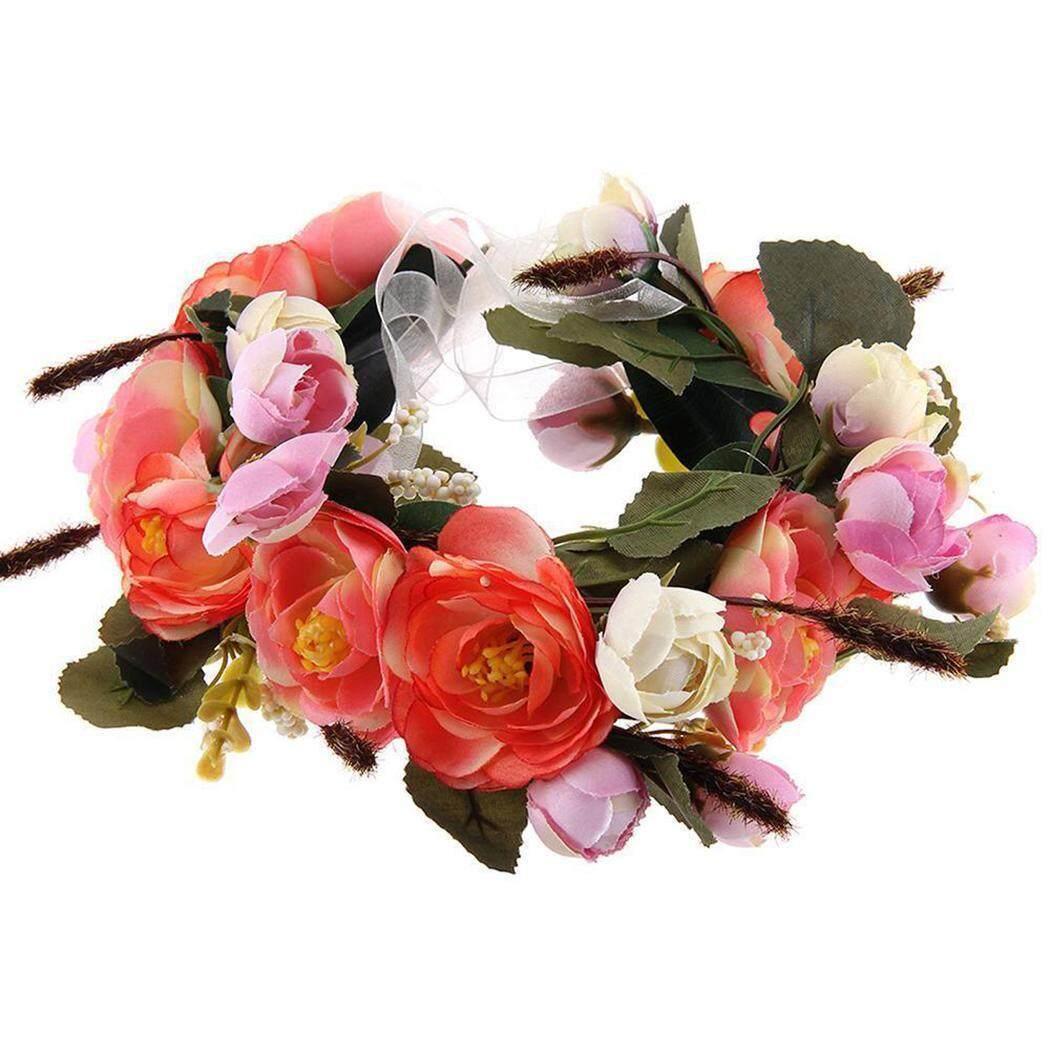 New Arrival Goodshopping2015 Flower Wreath Headband Headdress Crown Bride Floral Hairband Beach Party Wedding - intl