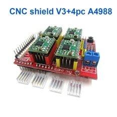 New CNC Shield V3 Engraving Machine / 3D Printer / + 4 Pcs A4988 Driver Expansion Board for Arduino