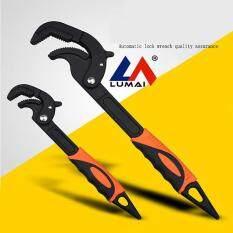 New multi-purpose universal pipe wrench sharp tail universal wrench plumbing wrench # Orange