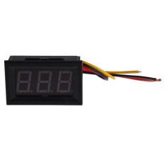 [Uebfashion] NEW Red LED Panel Meter Mini Digital Voltmeter DC 0 to 99.9V (Black)