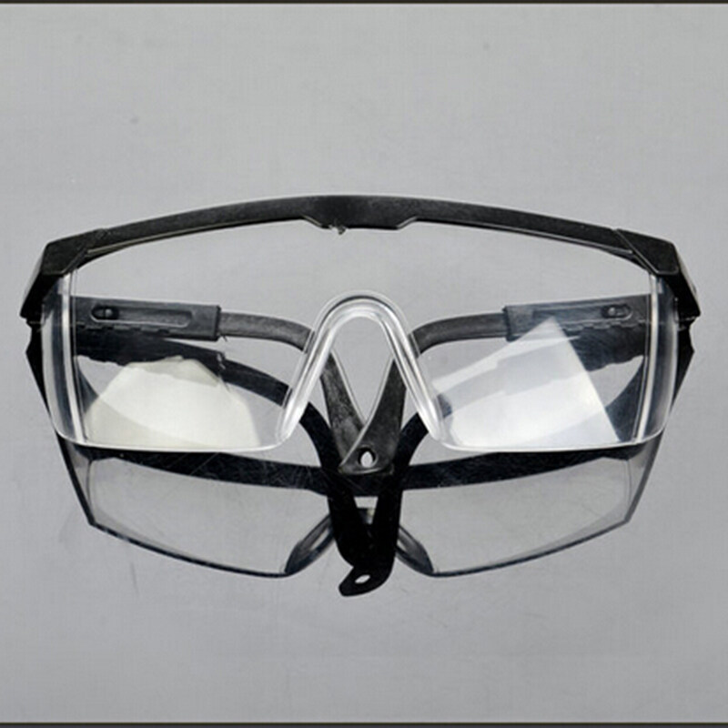 New Safety Eye Protection Clear Lens Goggles Glasses From Lab Dust Paint Lab  Black