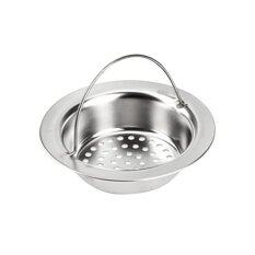 New Stainless Steel Kitchen Garbage Portable Sink Strainer Waste Plug Drain Stopper Filter Basket