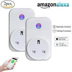 niceEshop Smart Plug Mini Smart Socket Outlet Compatible With Alexa Echo Dot Google Home App Remote Control From Anywhere No Hub Required Timing Switch Home Device Energy Saving 2-Pack