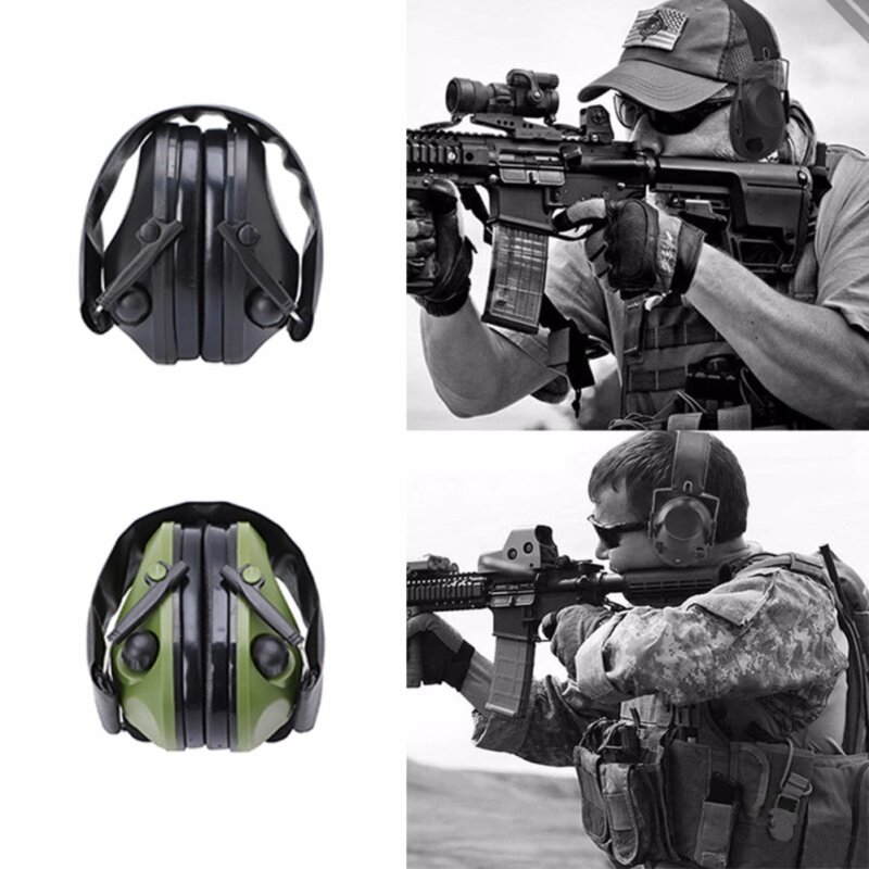 Noise Canceling Electronic Ear Muffs Protection Shooting Hunting Sport Tactical