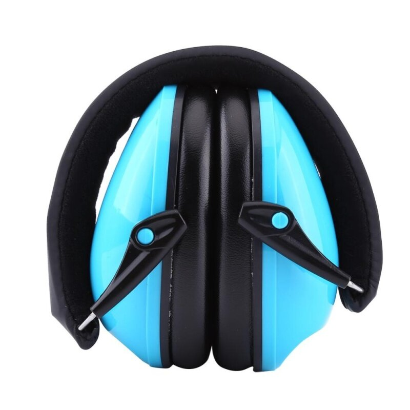 Noise Reduction Earmuffs Protect Kids Sound Hearing Ear Defenders (Blue)