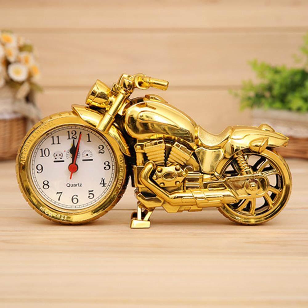 Kebaruan Emas/Hitam Jam Model Motor Kantor Rumah Dekorasi Meja Jam Kepribadian Jam Alarm Hadiah Ulang Tahun untuk Teman Laki-laki aksesoris-Internasional