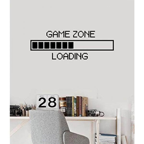N.SunForest N.SunForest Childrens Room Vinyl Wall Decal Game Zone Loading  Quotes Gamer