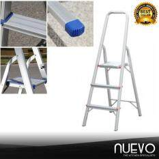 Nuevo Upscale 3 Step Ladder Thickened Aluminum Trifold Ladder Folding Home Portable Mobility Treadle Ladder Escalator