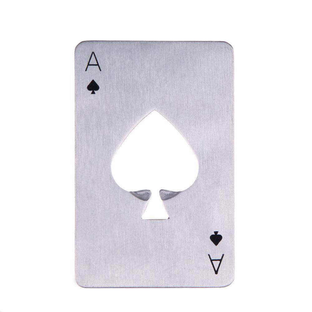 Newlifestyle OEM New Stylish Hot Sale Stainless Steel Poker Playing Card of Spades Bar Tool - intl(Black)