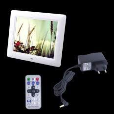 OH 8 TFT-LCD HD Ảnh Kỹ Thuật Số Phim Khung Đồng Hồ Báo Thức MP3 MP4 Người Chơi Trắng-quốc tế