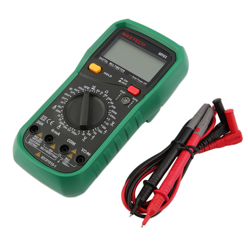 OH Mastech MY61 LCD Digital AC/DC Voltage Current ResistanceMultimeter Gray &