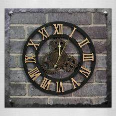 Originality American Industrial Style Wood Vintage Old Gear Wall Clock