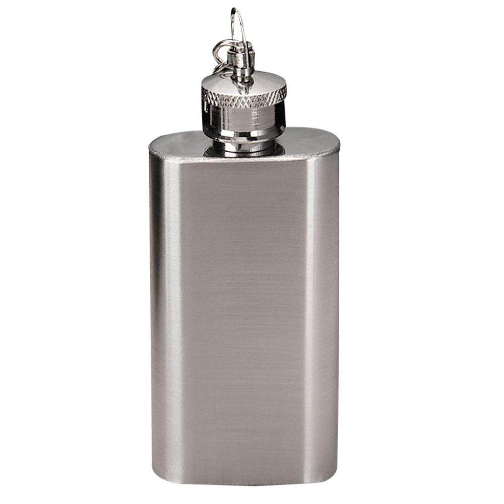 Oscar Store Practical High-quality Hot Sell Wine Flask Wine Pot Flagon Key Chain Key Ring Stainless Steel Dual Use 1.8OZ - intl