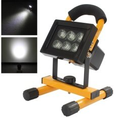 Outdoor Waterproof Portable 10W 6LED Cordless Rechargeable Work Light Spot Lamp for Camping