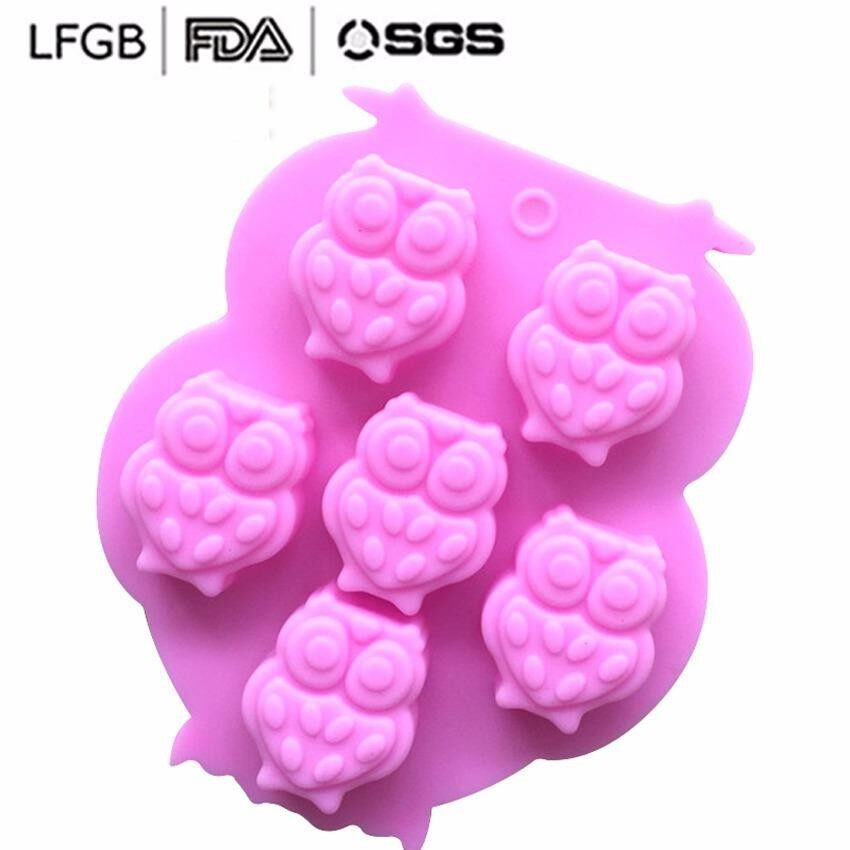 Owl silicone chocolate mold silicone ice lattice mold silicone aromatherapy mold ice cream mold jelly mousse mold