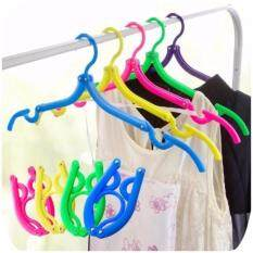 Pack Of 10pcs Foldable Travel Clothes Hangers Coat Hanger With Anti-Slip Grooves By Yw Store.