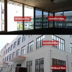 Gấu trúc Online 2 M x 50 CM Bạc Năng Lượng Mặt Trời Phản Quang Cửa Sổ Bộ Phim Giấy Giấy Dán Bếp Cách Nhiệt Một Cách Tráng Gương