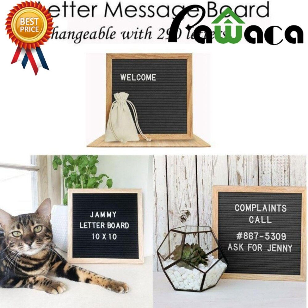 Deals For Pawaca Retro Felt Changeable Letter Board Home Restaurant Message Board With 290 Letter Intl