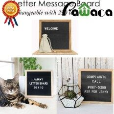 Compare Price Pawaca Retro Felt Changeable Letter Board Home Restaurant Message Board With 290 Letter On China