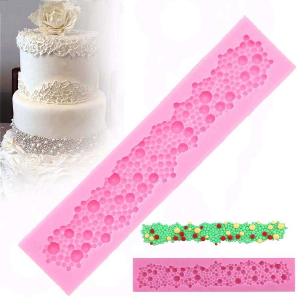 Pearls Beads Silicone Mould Fondant Cake Tools Sugar Paste Cupcake Mold Border