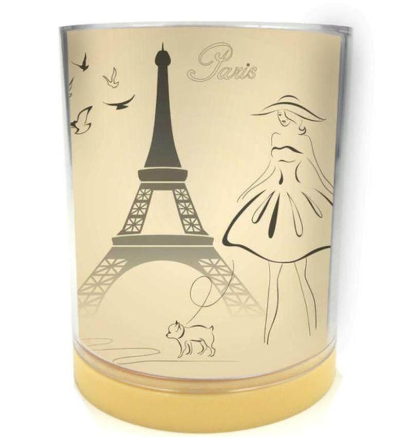 Sfstore Wadah Penyangga Pena Kota Kehidupan Percintaan Di Paris Menara Eiffel Forpencil Silinder Pot Meja Kantor Pengelola Aksesoris Schoolsupplies-Intl