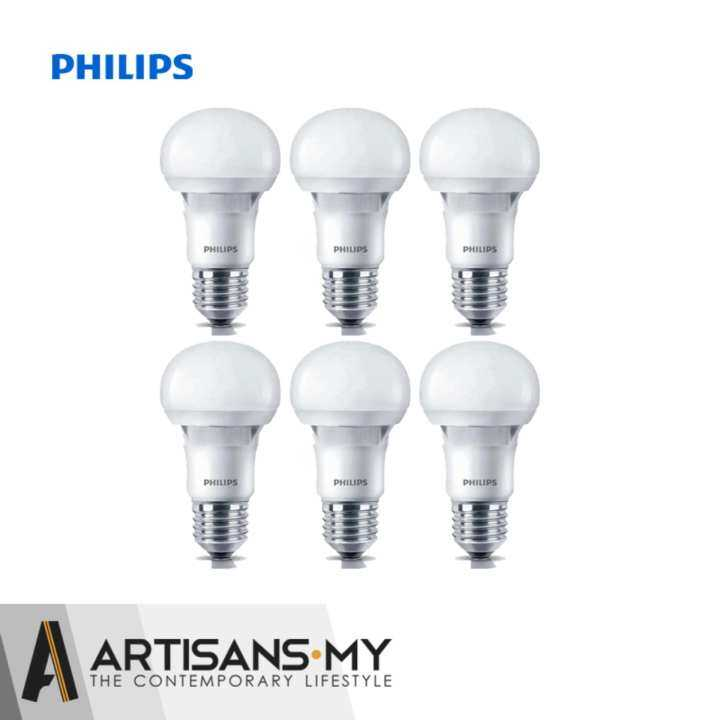 philips 6 pcs x essential 12w led light bulb cool daylight 6500k e27 220 240v lazada. Black Bedroom Furniture Sets. Home Design Ideas