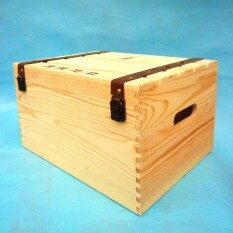 Pine Double Layer Porous Wine Wooden Wine Box