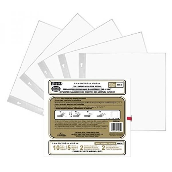 Set Of 2 Pioneer Double 5x7 Pocket Album Refill Page Bundled By