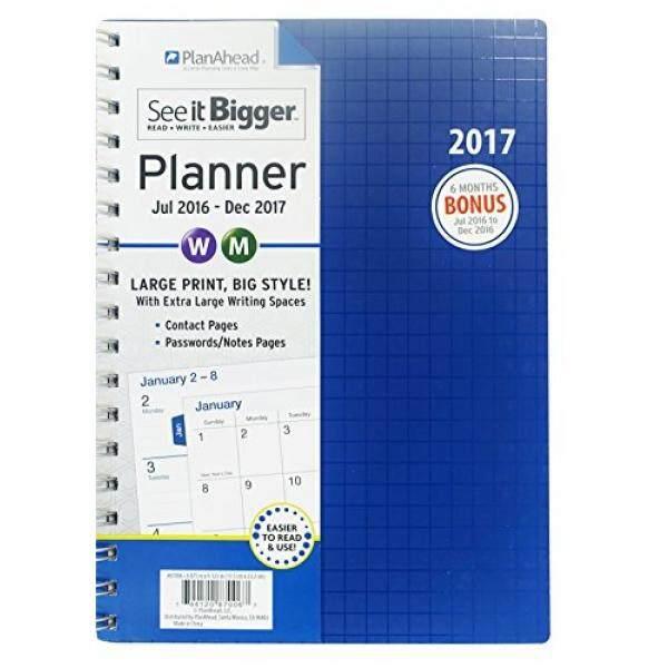 Planahead Lihat Lebih Besar 18 Month Planner, Juli 2016-Desember 2017, Aneka Warna (87006) -Internasional