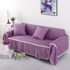 Polyester and Linen Slip-resistant Sofa Slipcover Couch Cover Living Room  Sofa Towel Home Decor 5aacda3286