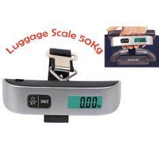 Portable Handheld Travel Electronic Luggage Scale 50kg Comfortable Touch With Rubber Paint By Budgetonline.