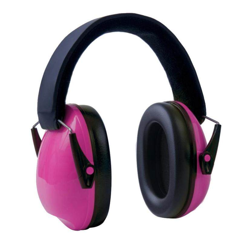 Portable Kids Outdoor Noise Reduction Ear Muffs Foldable Ear Defenders with Adjustable Headband for Children Shooting Labor Protection Tactics Reading Studying Protect Hearing Pink