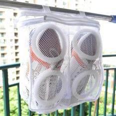 Sepatu Portabel Laundry Cuci Bersih Tas Jaring Ritsleting Sepatu Kering Penyimpanan Organizer