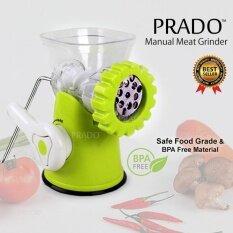 Prado Manual Meat Grinder Kitchen Hand Mincer Sausage Pasta Maker Hl-Grinder-01 Safe Bpa Free - Green By Prado Shop.