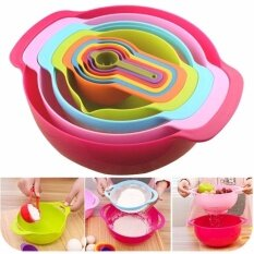 Premium 10pcs Creative Sweet Color Rainbow Mixing Bowl Sets By Crc Mall.
